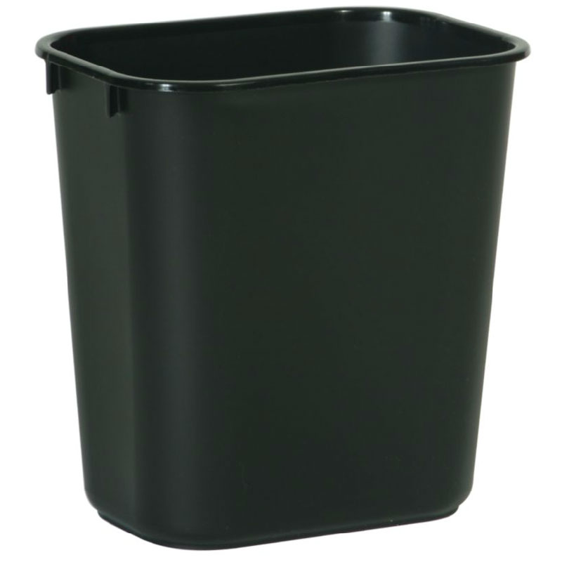 Rubbermaid FG295700BLA 41-1/4-qt Deskside Recycling Container - Black