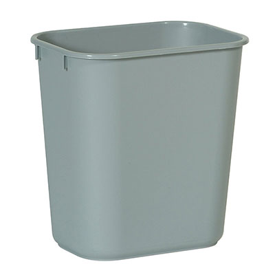 Rubbermaid FG295600GRAY 28-qt Waste Basket - Gray