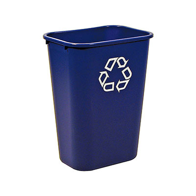 Rubbermaid FG295773BLUE 41-1/4-qt Deskside Recycling Container - Dark Blue