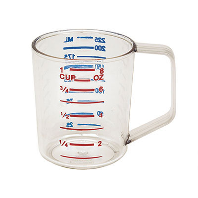 Rubbermaid FG321800CLR 4-qt Bouncer Measuring Cup - Clear Poly