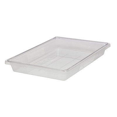 "Rubbermaid FG330400CLR 5-gal Food/Tote Box - 18x12x9"" Clear Poly"