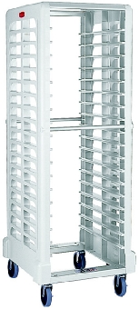"Rubbermaid FG332000BLA Max System Rack - 18 Slot Side-Loader, 23-3/4x18-5/8x67-7/8"" Off-White"