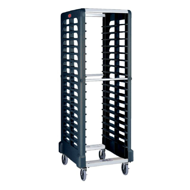 "Rubbermaid FG332000BLA Max System Rack - 18 Slot Side-Loader, 23-3/4x18-5/8x67-7/8"" Black"