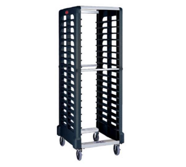 """Rubbermaid FG332400BLA Max System Rack - 18 Slot Dual-Loader, 28-3/4x23-3/4x67-7/8"""" Black"""