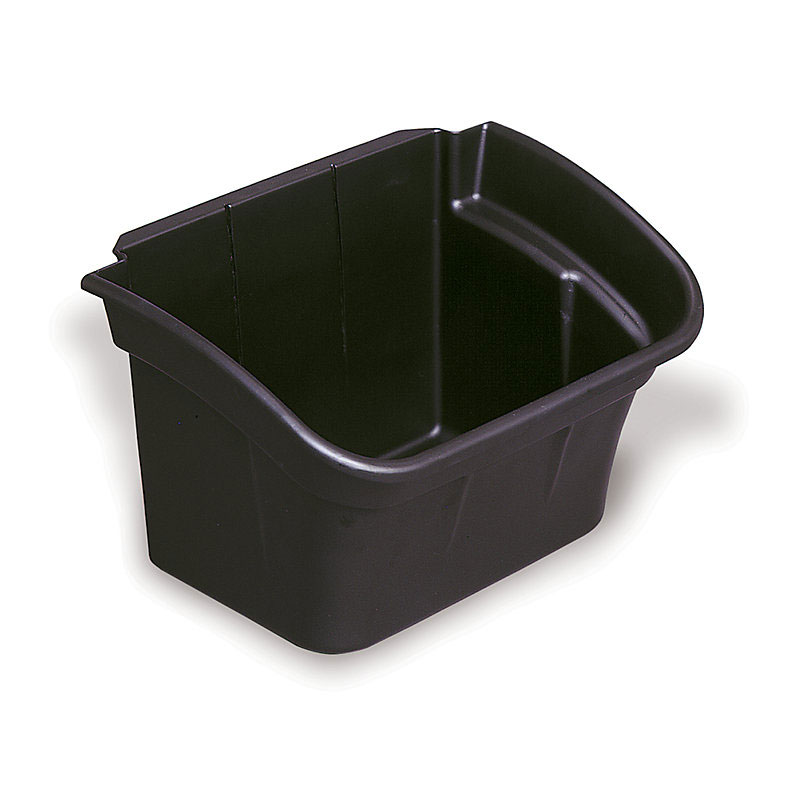 "Rubbermaid FG335488BLA 4-gal Utility Bin - 10-1/2x17x12-1/8"" Black"