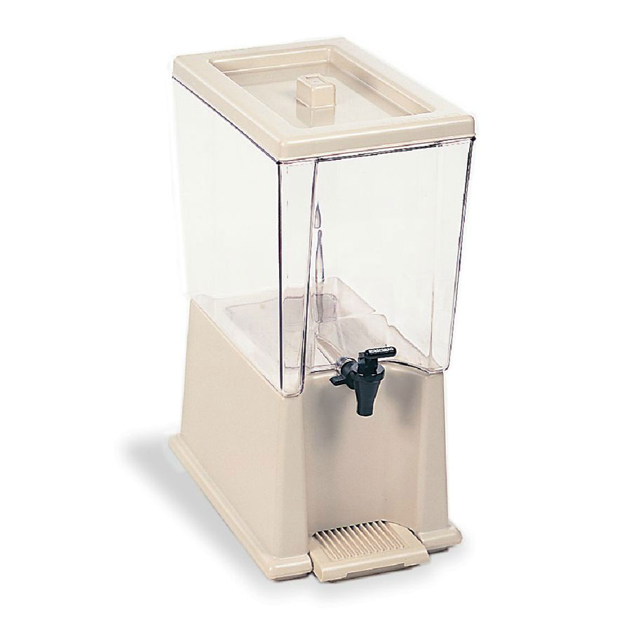 Rubbermaid FG335900CLR 5-gal Beverage Dispenser - Clear Poly