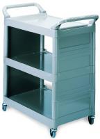 Rubbermaid FG342100PLAT 3-Shelf Utility Cart - 33-5/8x18-5/8x36-3/4