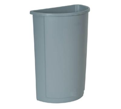 Rubbermaid FG352000GRAY Untouchable Container, Half Round, 21 Gallon, Plastic, Gray