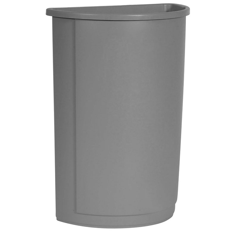 Rubbermaid FG352000GRAY 21-gal Half-Round Untouchable Contai