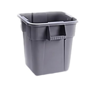 Rubbermaid FG352600GRAY 28-gal Square BRUTE Container - Gray