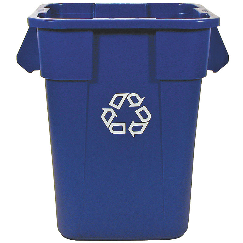 Rubbermaid FG353673BLUE 40-gal Square BRUTE Recycling Container - Blue