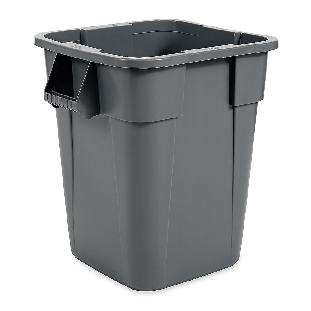 Rubbermaid FG353600GRAY 40-gal Square BRUTE Container - Gr