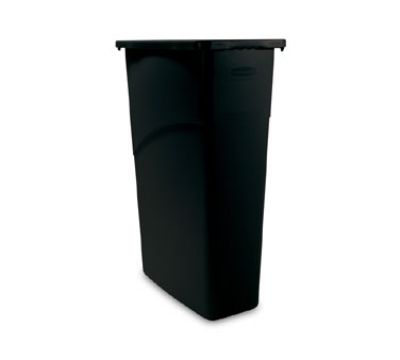 Rubbermaid FG354000BLA 23-gal Slim Jim Waste Container - Black