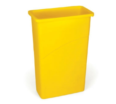Rubbermaid FG354000YEL 23-gal Slim Jim Waste