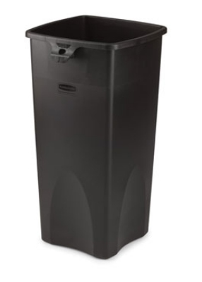Rubbermaid FG356988BLA 23-gal Untouchable Square Container - Black