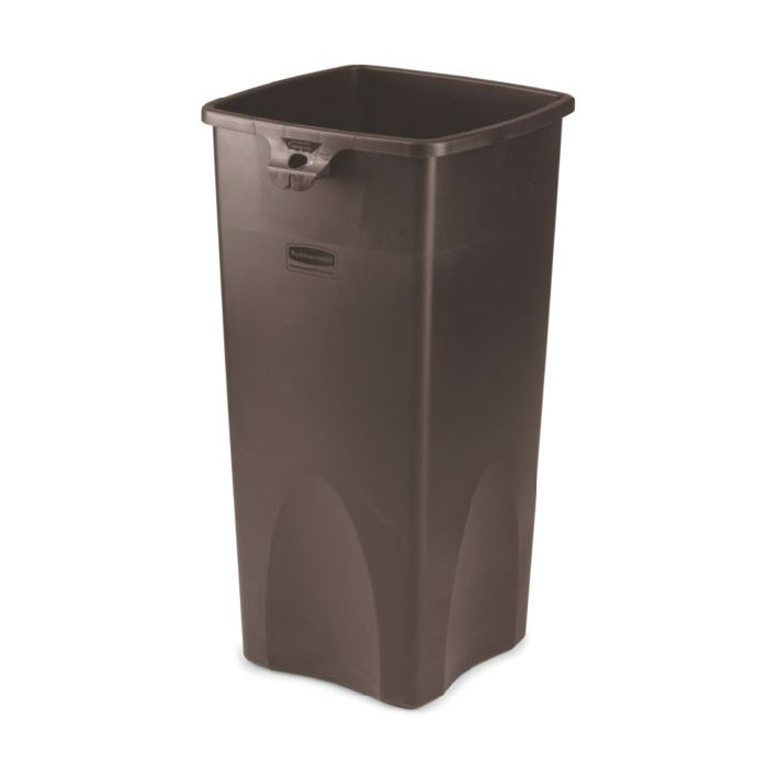 Rubbermaid FG356988BRN 23-gal Untouchable Square Container - Brown