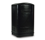 Rubbermaid FG396400BLA 50-gal Plaza Container  - Swing Door, Black
