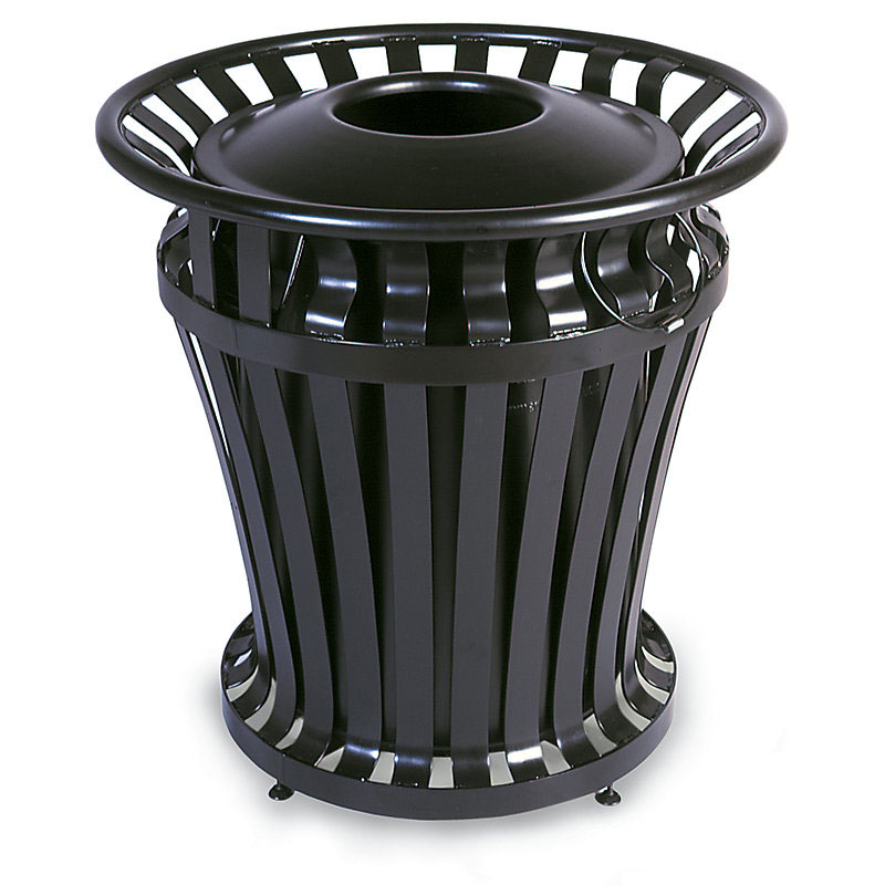 Rubbermaid FG402100BLA 32-gal WeatherGard Series Container - BRUTE Rigid Liner, Black