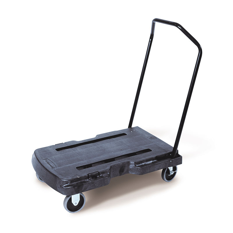 Rubbermaid FG440186BLA Triple Standard Trolley - 400-l