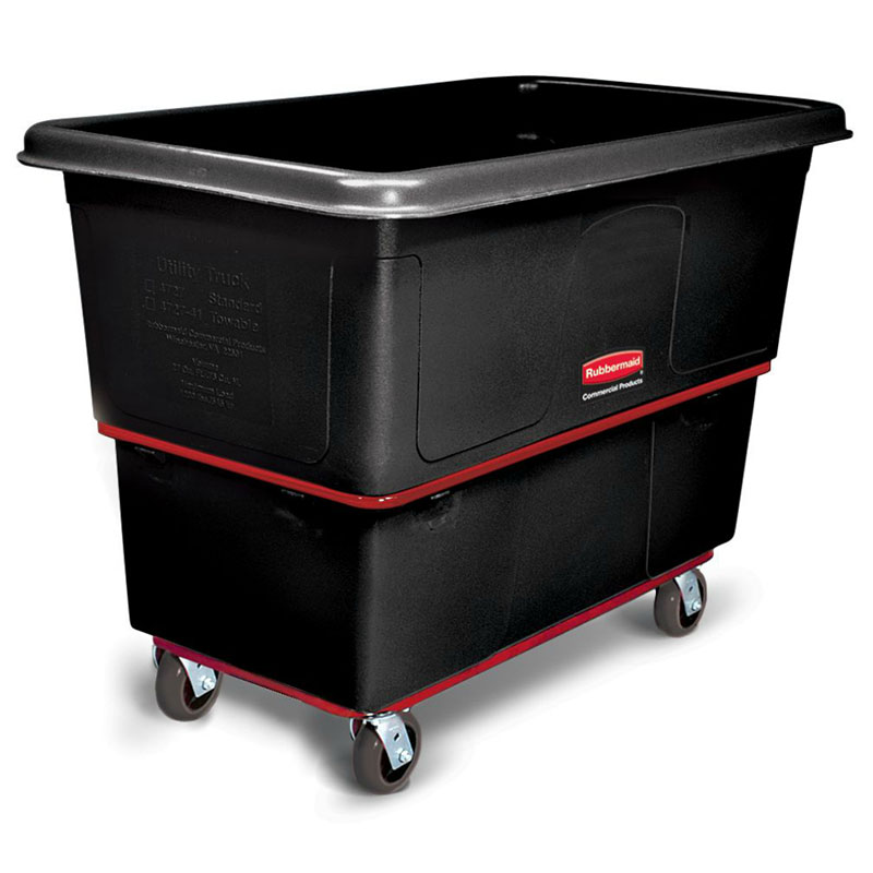 Rubbermaid FG472700BLA Mobile Utility Truck - 27 cu ft, 1200-lb Capacity, Black