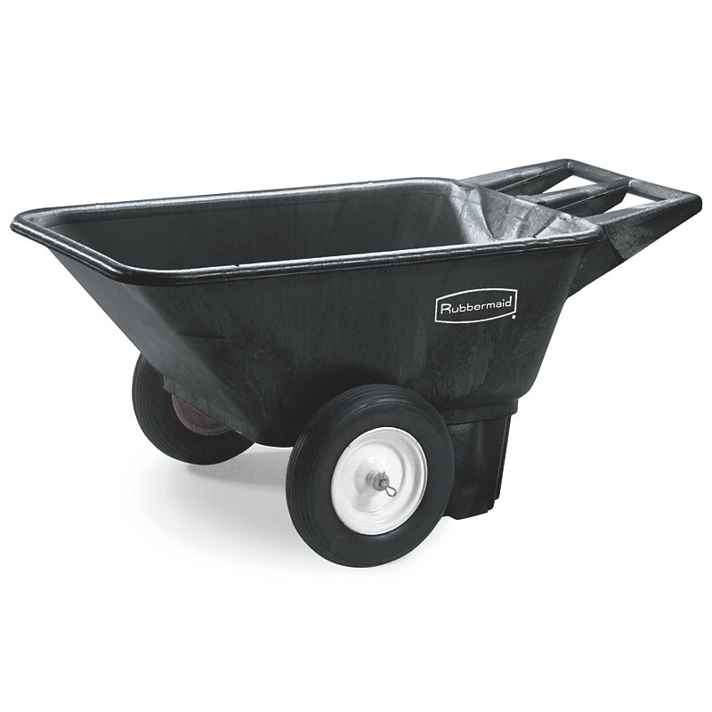 Rubbermaid FG564000BLA Low Wheel Cart - 7.5 cu ft Capacity, Black