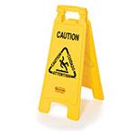 2 Sided Floor Sign - Caution Wet Floor