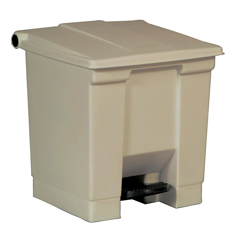 Rubbermaid FG614300BEIG 8-gal Step-On Container - Beige