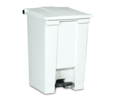Rubbermaid FG614400WHT 12-gal Step-On Container - White