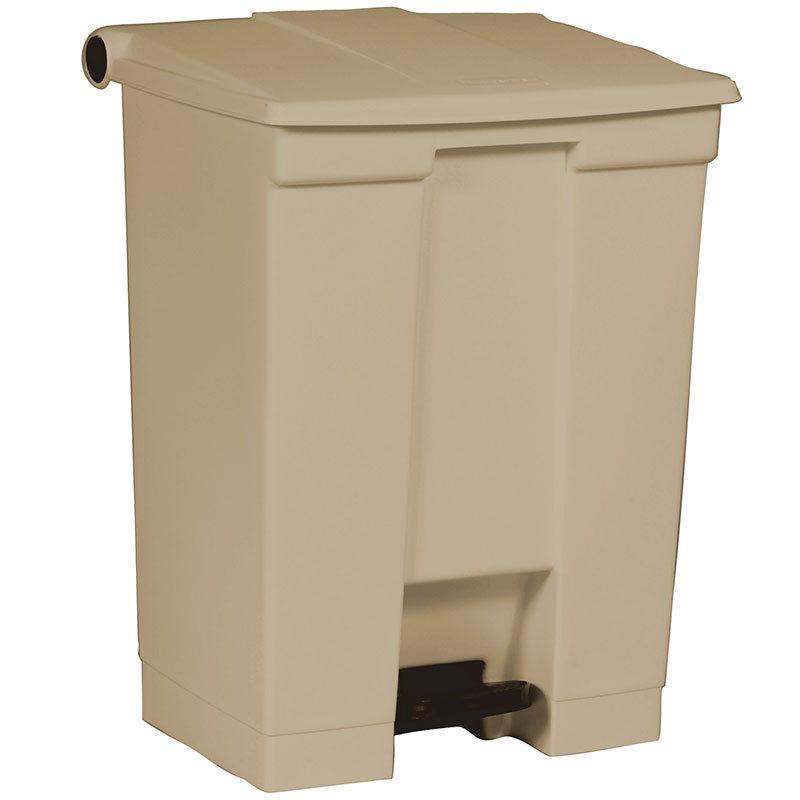 Rubbermaid FG614500BEIG 18-gal Step-On Container - Beige