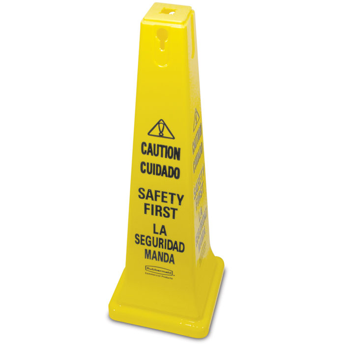 "Rubbermaid FG627687YEL Safety Cone - ""Caution, Safety First&"