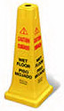 "Rubbermaid FG627777YEL Safety Cone - ""Caution, Wet Floor"
