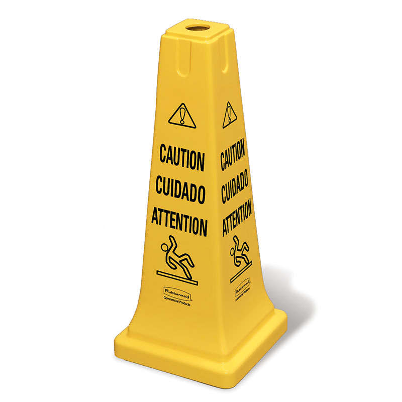 "Rubbermaid FG627700YEL Safety Cone - ""Caution"" Multi-L"