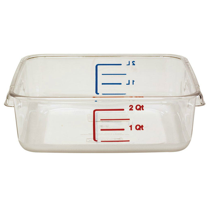 Rubbermaid FG630200CLR 2-qt Space Saving Square Container - Clear Poly