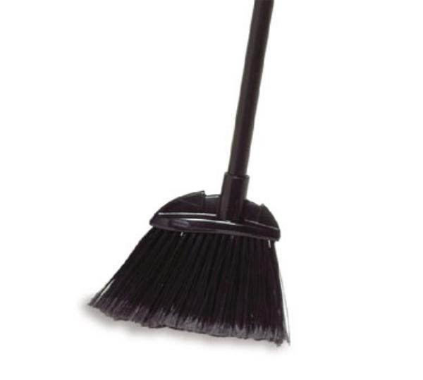 Rubbermaid FG637500GRAY BRUTE Broom - Vinyl Coated Handle, Flagged Poly Fill, Gray