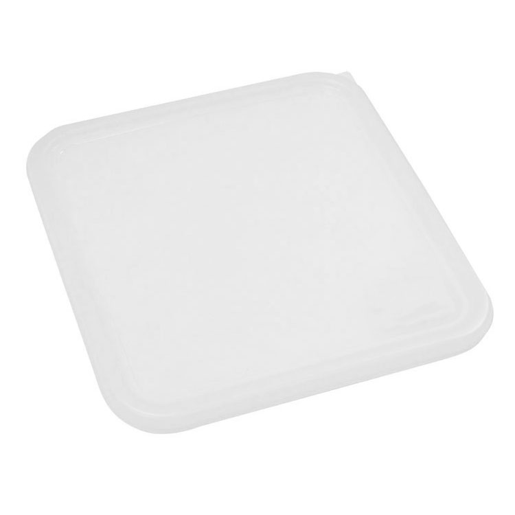 "Rubbermaid FG652300WHT 11-5/16"" Square Space Saver Lid - White Poly"