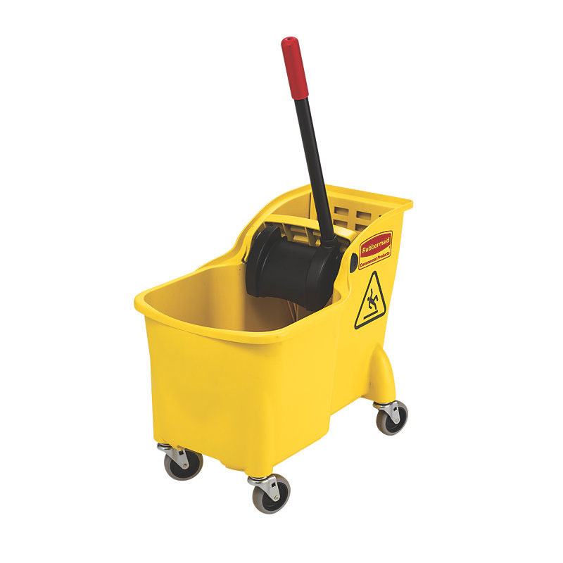 Rubbermaid FG738000YEL 31-qt Tandem Bucket/Wringer Combo - Yellow