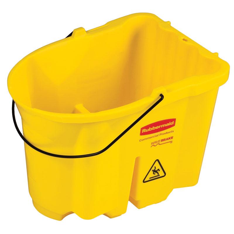 Rubbermaid FG757188YEL 35-qt WaveBrake Bucket - Yellow