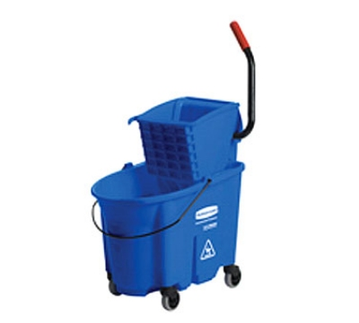 Rubbermaid FG758888BLUE 35 Qt. Mop Bucket & Wringe Blue Restaurant Supply