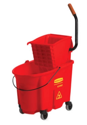Rubbermaid FG758888RED 35-qt WaveBrake Specialty Mopping Combo - Side Press, Red