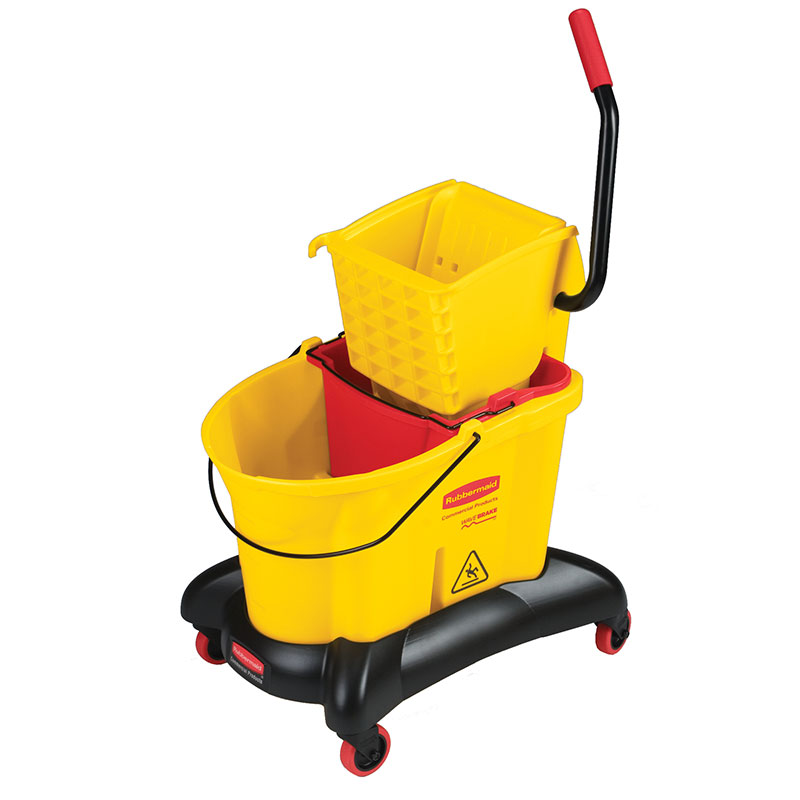 Rubbermaid FG768000YEL 35 Qt. Mop Bucket Wringer & Dolly Restaurant Supply
