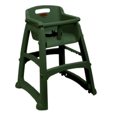 Rubbermaid FG780508DGRN Sturdy Chair Youth Seat with Wheels - Green