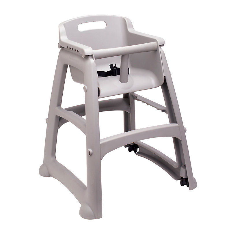 Rubbermaid FG780508PLAT Sturdy Chair Youth Seat with Wheels - Platinum