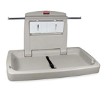 Rubbermaid FG781888LPLAT Sturdy Station 2 Changing Table - Platinum
