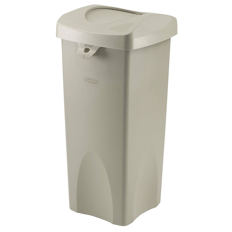 Rubbermaid FG792020BEIG 23-gal Untouchable Square Container with S