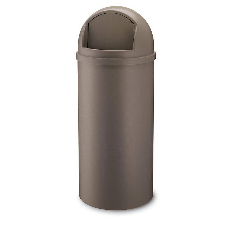 Rubbermaid FG817088BRN 25-gal Marshall Classic Container - Brown