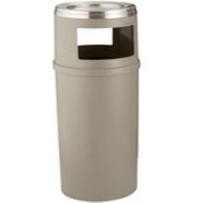 Rubbermaid FG818288BEIG 25-gal Ash/Trash Classic Container - Beige