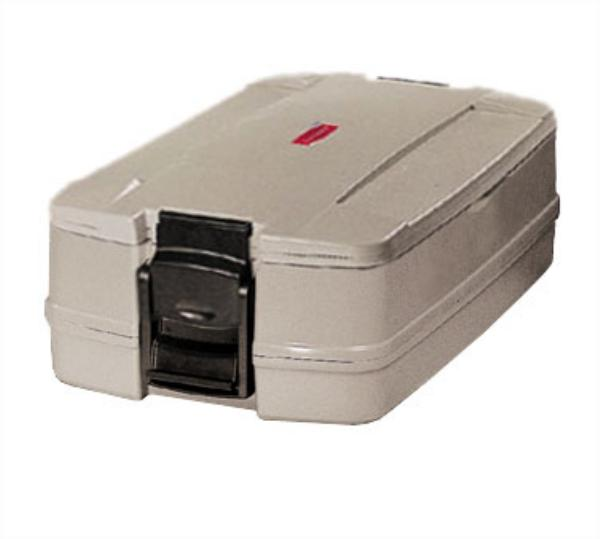 Rubbermaid FG940600PLAT CaterMax 25 Insulated Carrier - Single Pan, Platinum