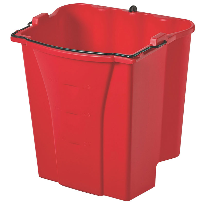 Rubbermaid FG9C7400RED 18-qt Dirty Water Bucket - WaveBrake Combos, Red
