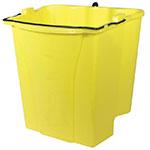 Rubbermaid FG9C7400YEL 18-qt Dirty Water Bucket - WaveBrake Combos, Yellow
