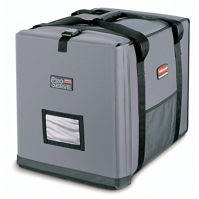 "Rubbermaid FG9F1400CGRAY ProServe Insulated Carrier - 27x21-1/2x29"" Cool Gray"